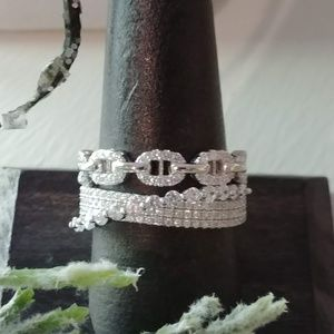 Jewelry - Sparkling Designed Sterling Fashion Ring